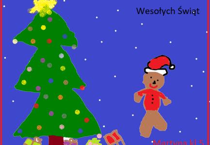 Z życzeniami świątecznymi kartki od uczniów