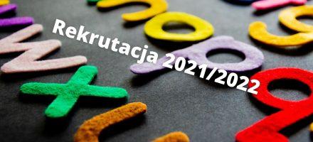 Rekrutacja na rok szkolny 2020/2021