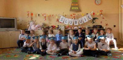 Pasowanie na przedszkolaka w Mirosławiu
