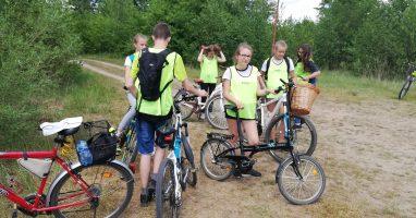 Klasa 7. na wycieczce rowerowej
