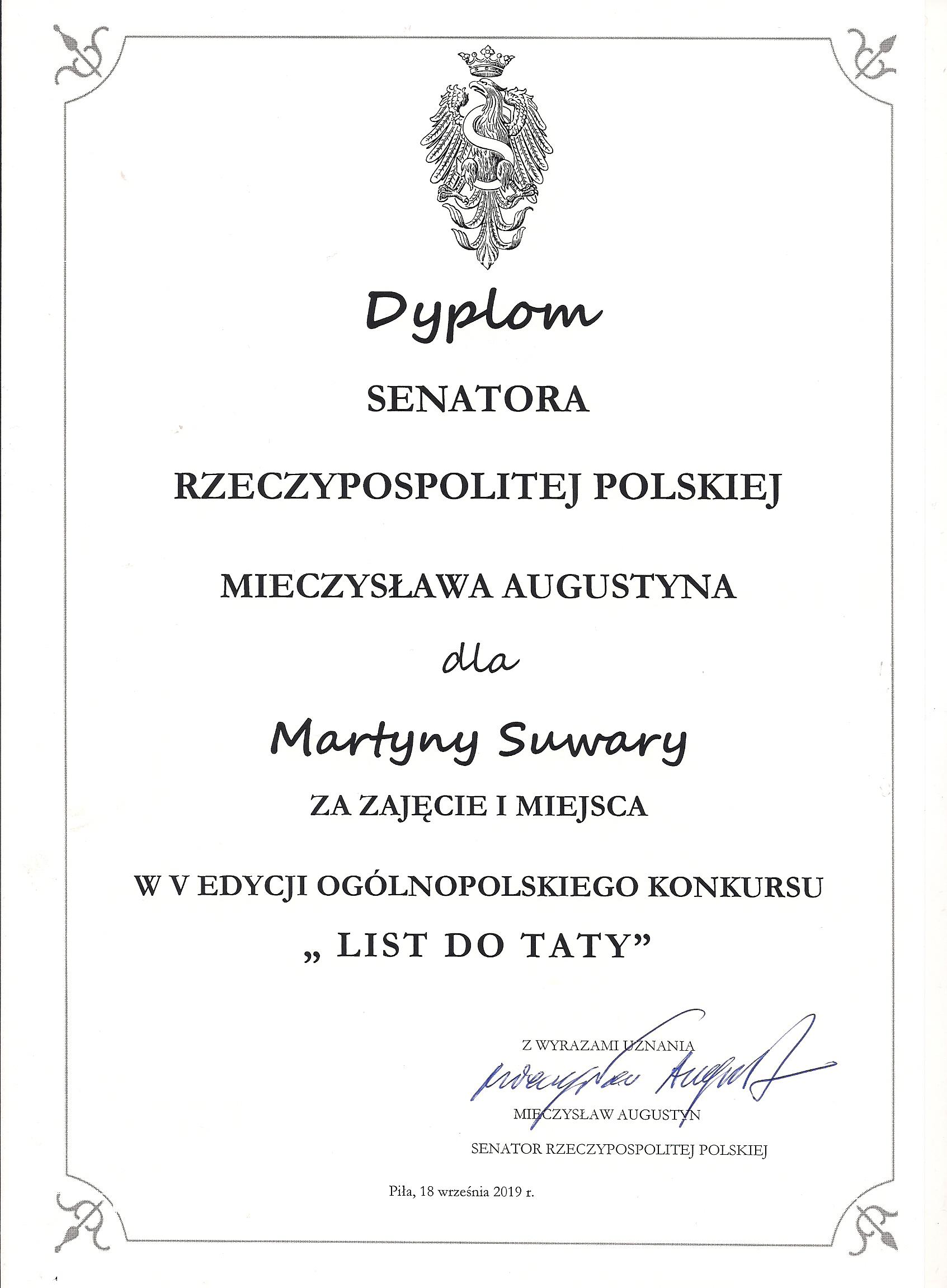 List Martyny wygrywa!